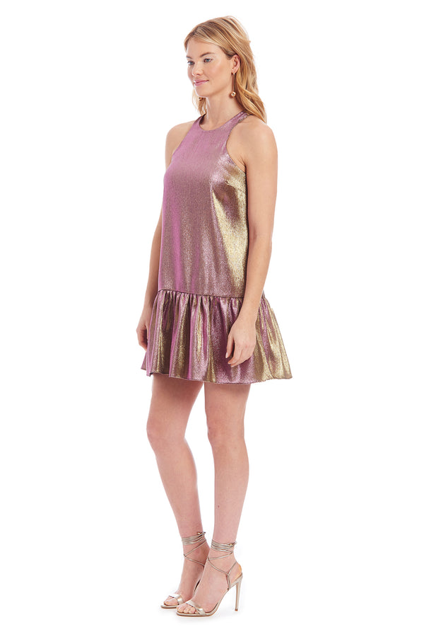 Amanda Uprichard Ezra Dress - Metallic Multi | Women's Dresses