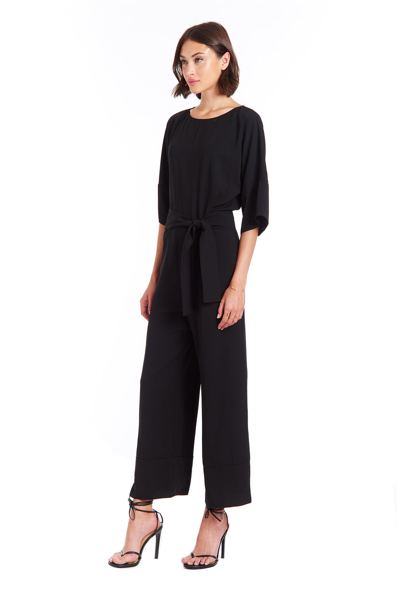 Amanda Uprichard Finch Jumpsuit - Black | Women's Jumpsuits & Rompers