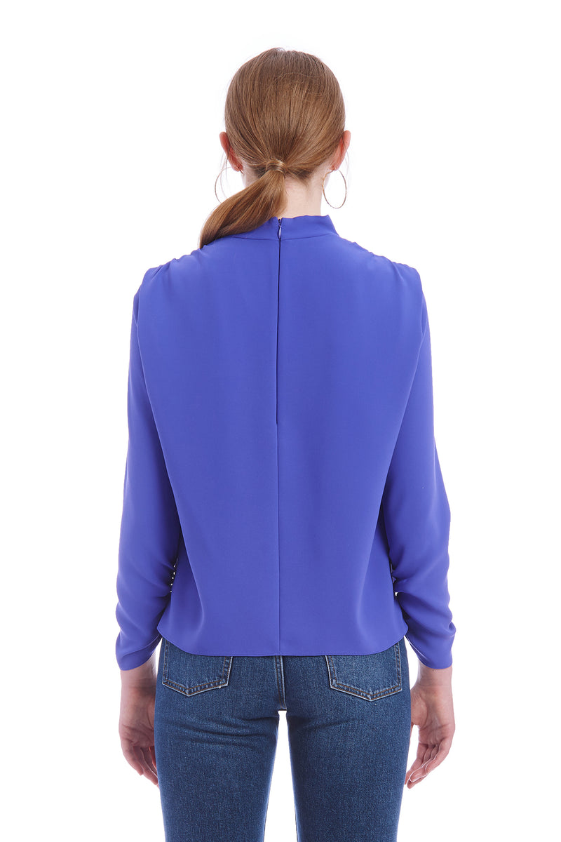 Amanda Uprichard Fabienne Top - Blue | Women's Tops