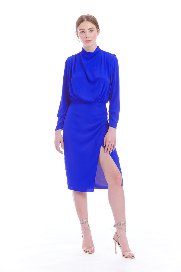 Amanda Uprichard Fabienne Dress - Blue | Women's Dresses