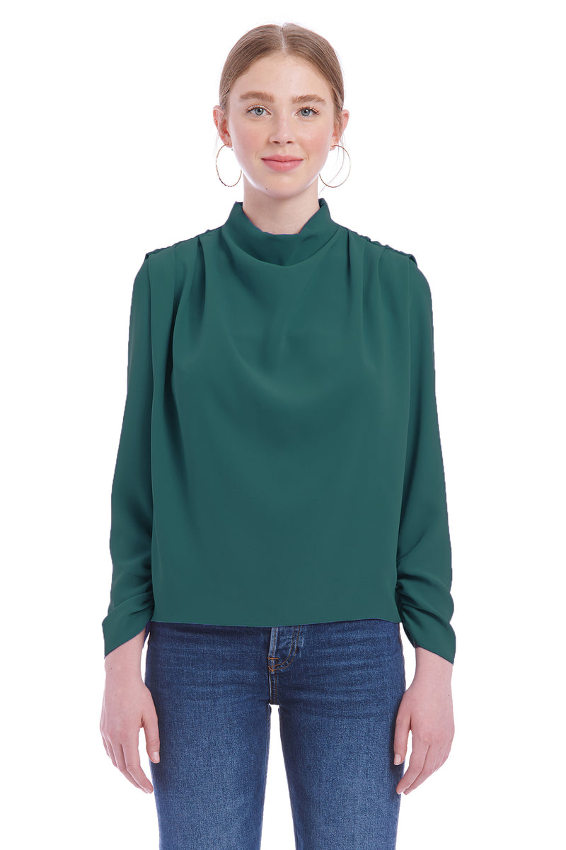 Amanda Uprichard Fabienne Top - Green | Women's Tops