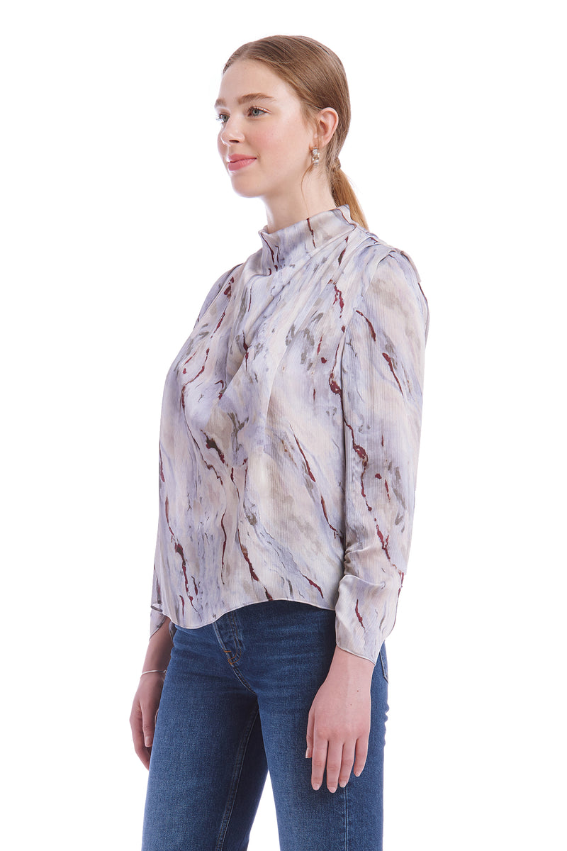 Amanda Uprichard Fabienne Top - Marble | Women's Tops