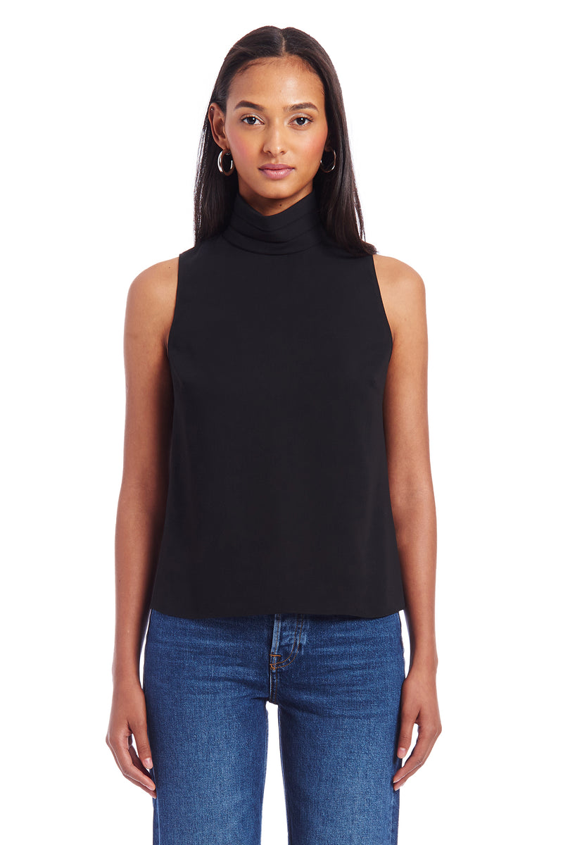 Amanda Uprichard Fleurette Top - Black | Women's Tops