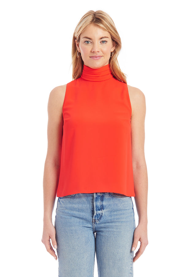Amanda Uprichard Fleurette Top - Red | Women's Tops