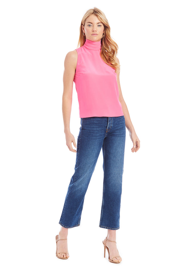 Amanda Uprichard Fleurette Top - Pink | Women's Tops