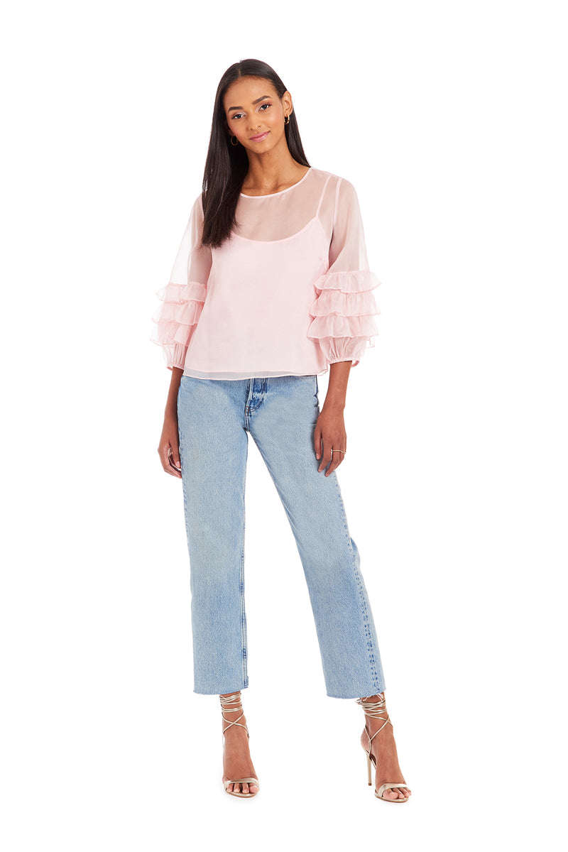 Amanda Uprichard Freesia Top - Pink | Women's Tops