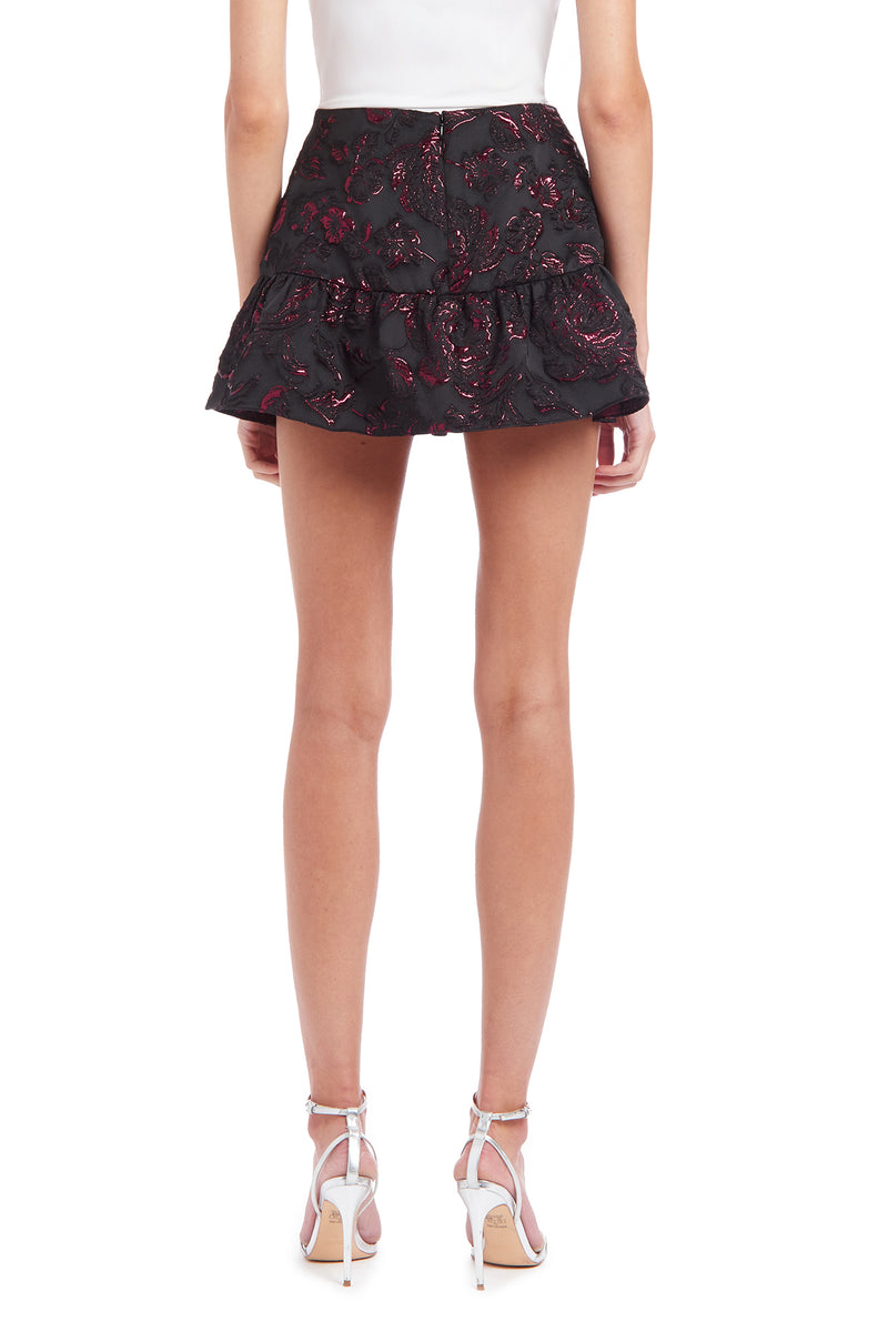 Amanda Uprichard Gabbie Skort - Black Multi | Women's Bottoms
