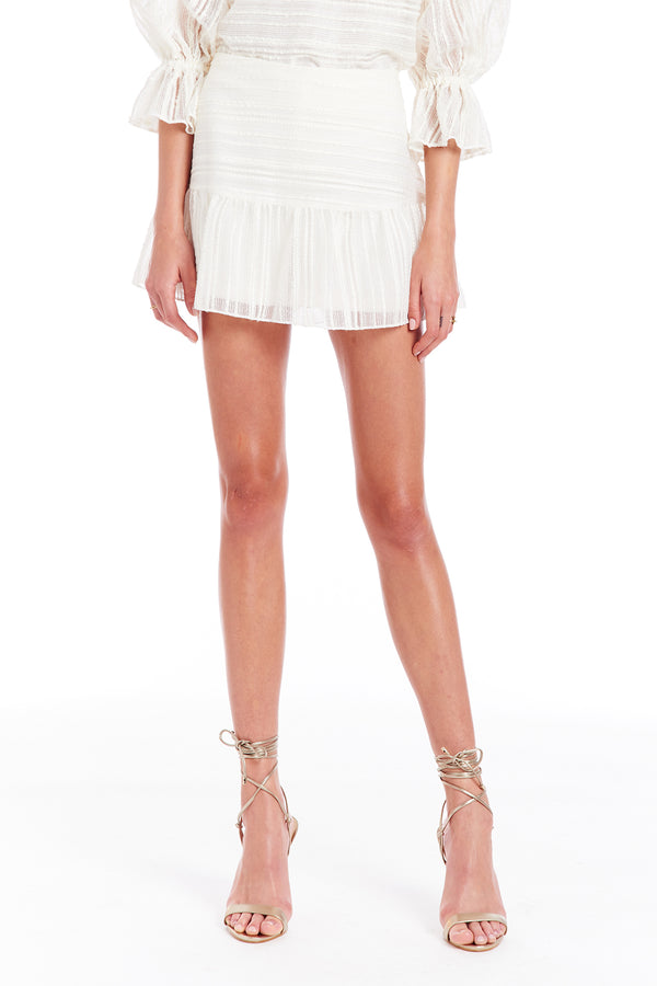 Amanda Uprichard Gabbie Skort - Ivory | Women's Bottoms