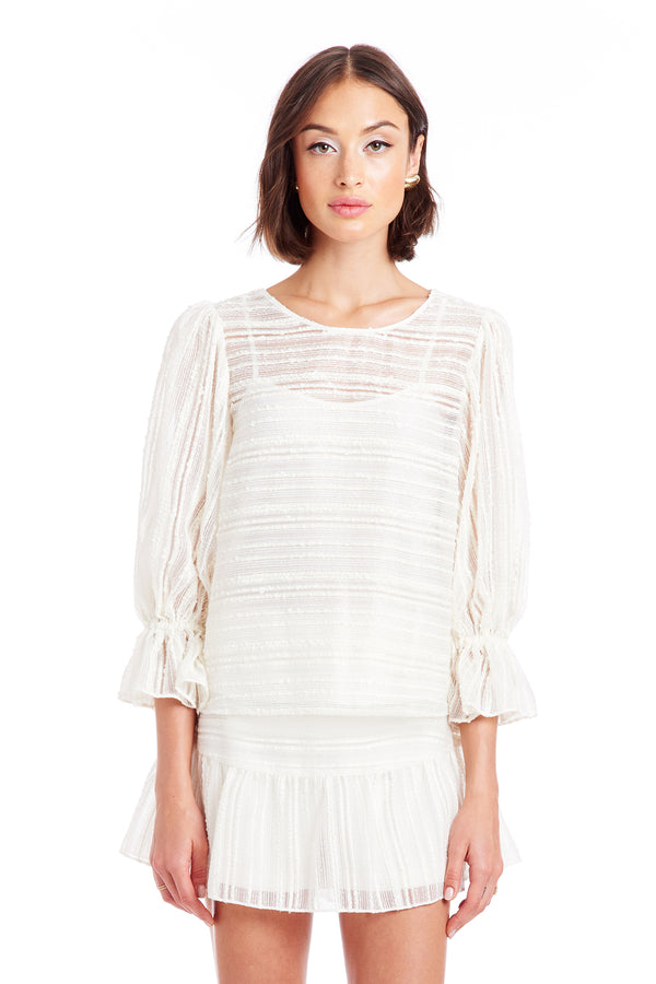 Amanda Uprichard Gabbie Top - Ivory | Women's Tops