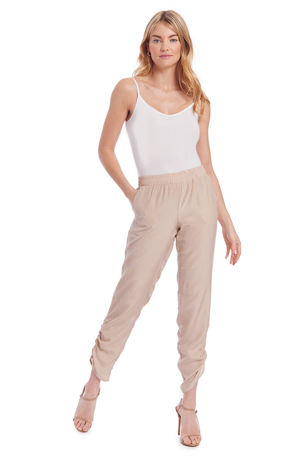 Amanda Uprichard Gillian Pants - Beige | Women's Pants