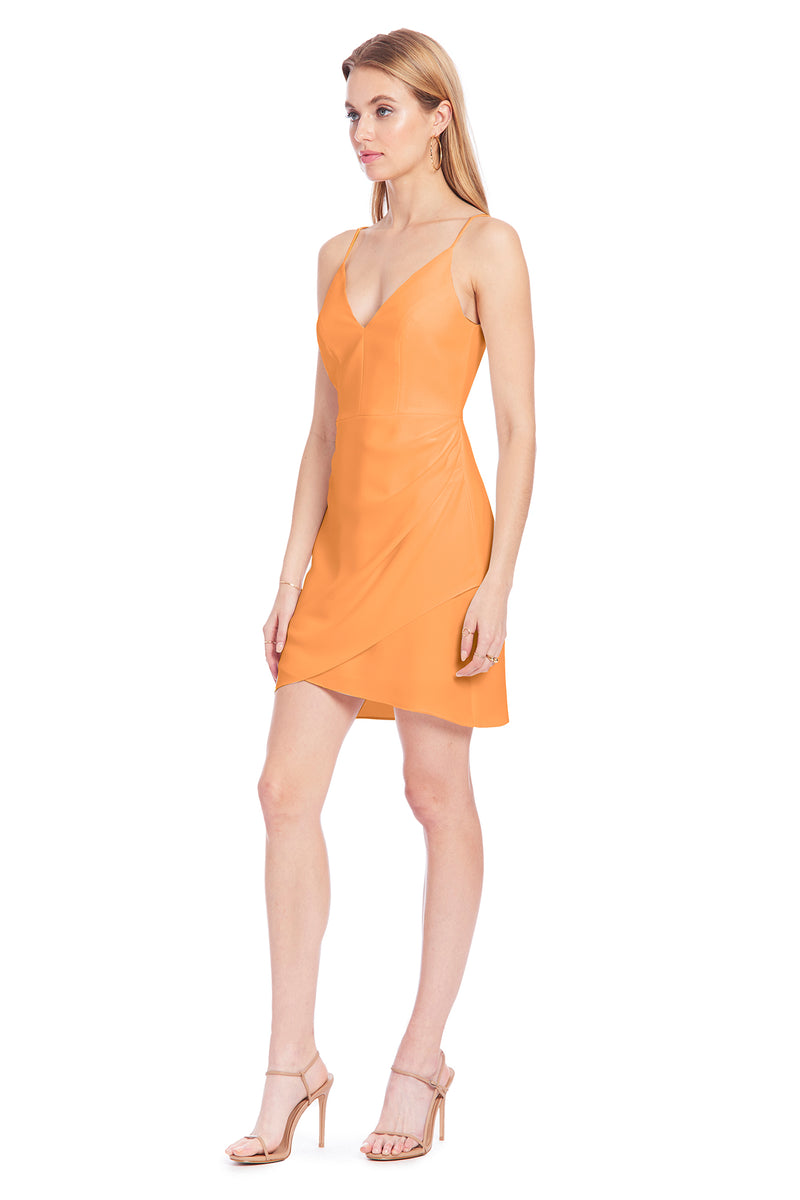 Amanda Uprichard Giovanni Dress - Orange | Women's Dresses