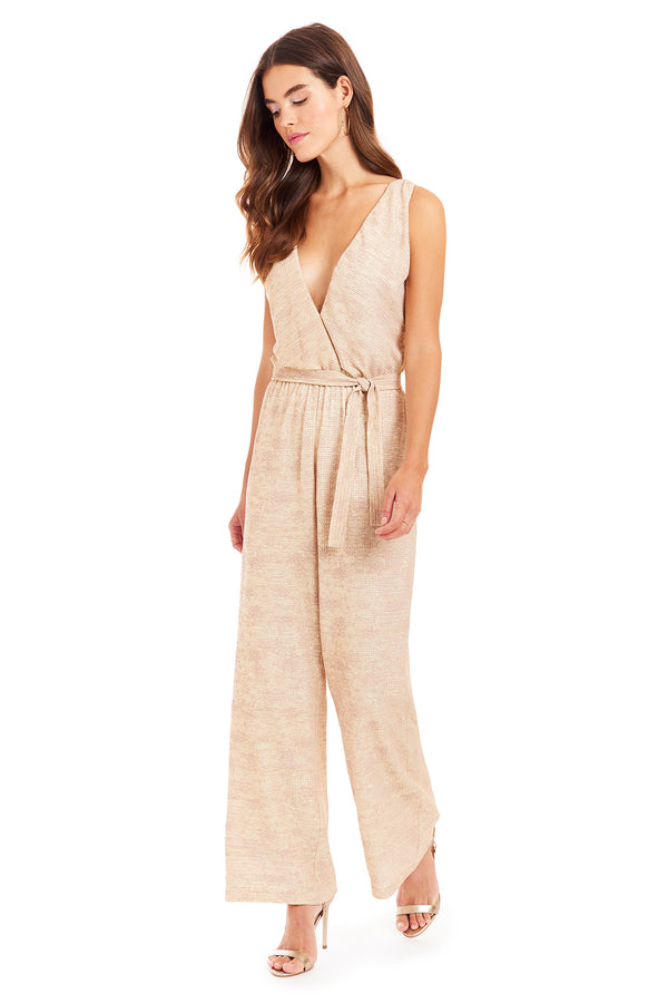 Amanda Uprichard Gunnar Jumpsuit - Beige | Women's Jumpsuits & Rompers