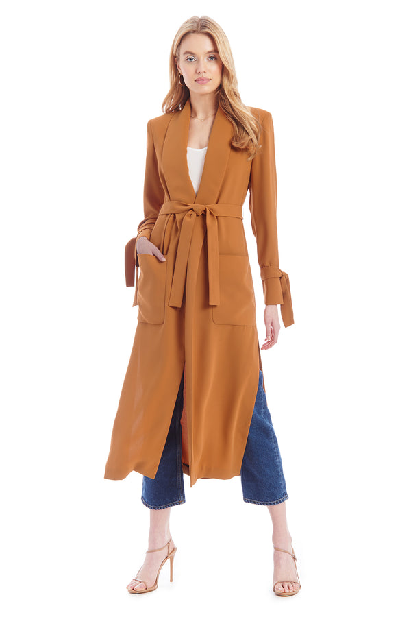 Amanda Uprichard Hawthorne Coat - Pecan | Women's Coats