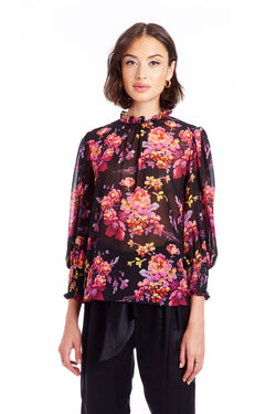 Helene Top - Evening Blossom | Women's Tops | Amanda Uprichard