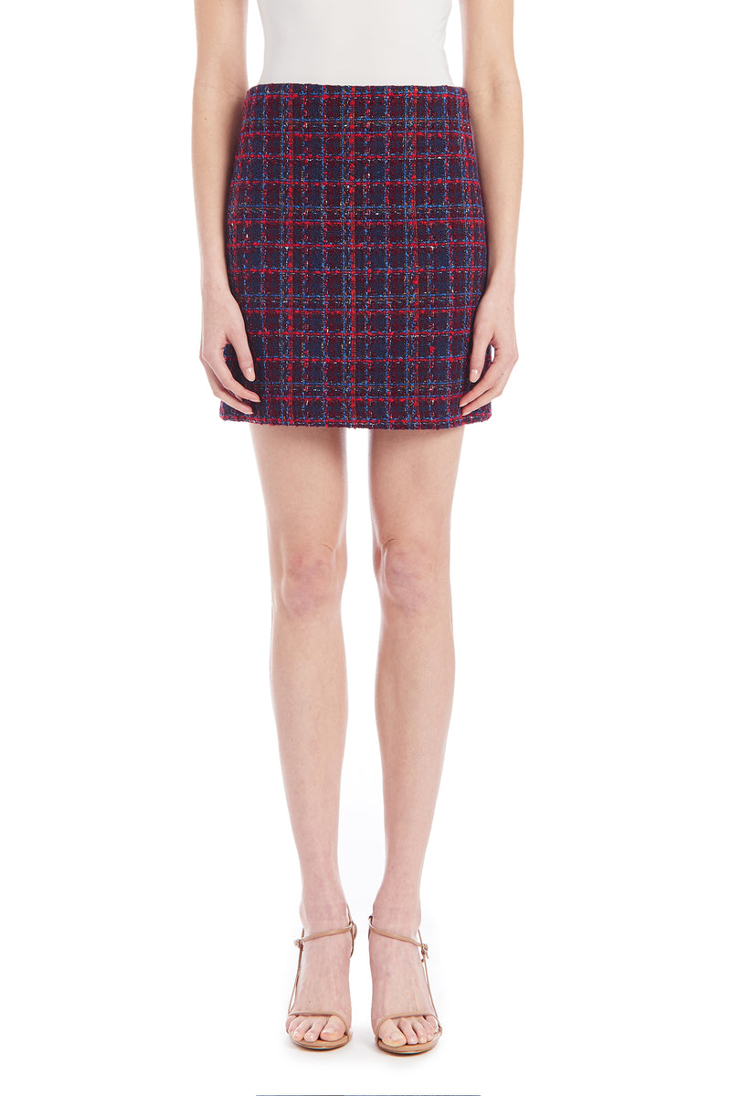 Amanda Uprichard Hope Skirt - Navy Plaid Multi | Women's Skirts