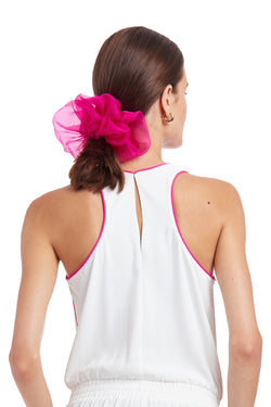 Amanda Uprichard Organza Scrunchie - Hot Pink | Women's Scrunchies