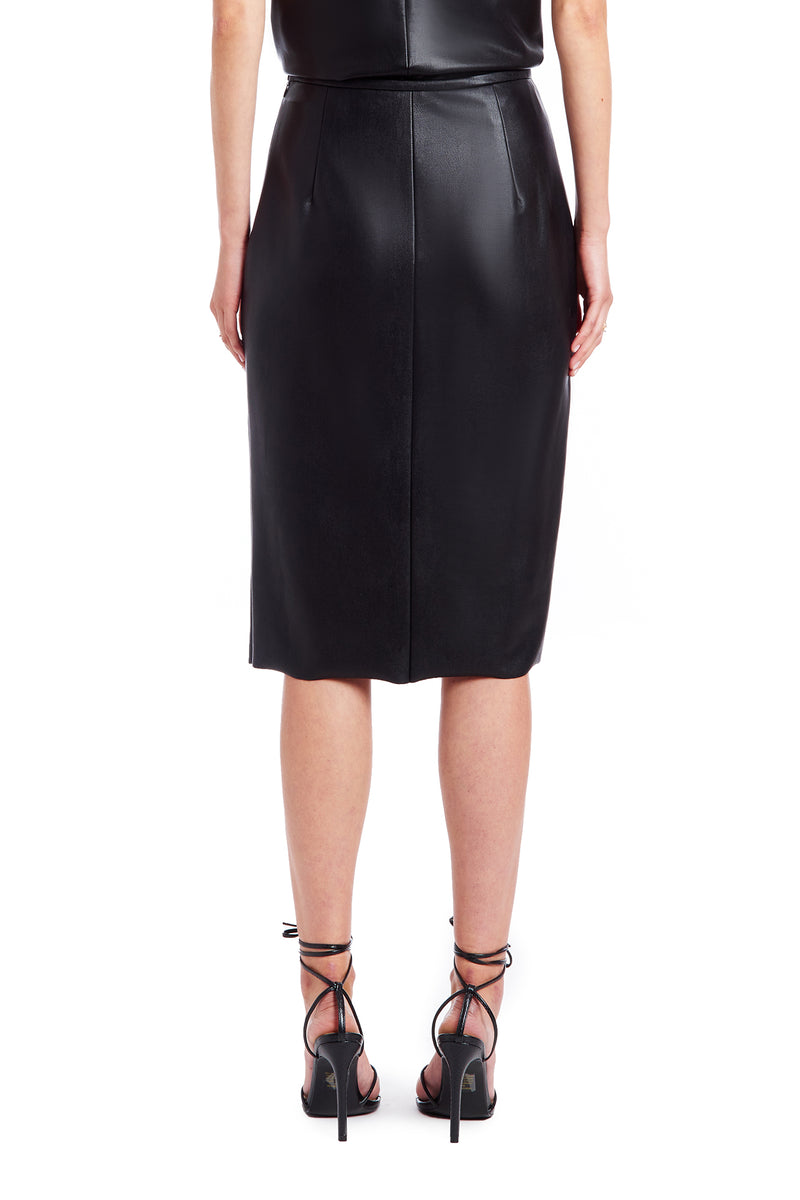 India Skirt - Faux Leather | Women's Bottoms | Amanda Uprichard