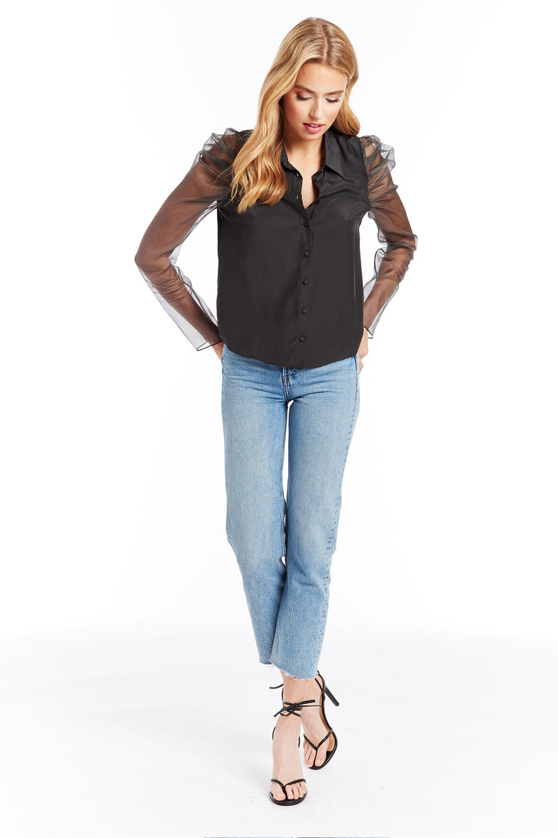 Amanda Uprichard Jaslene Top - Shale | Women's Tops
