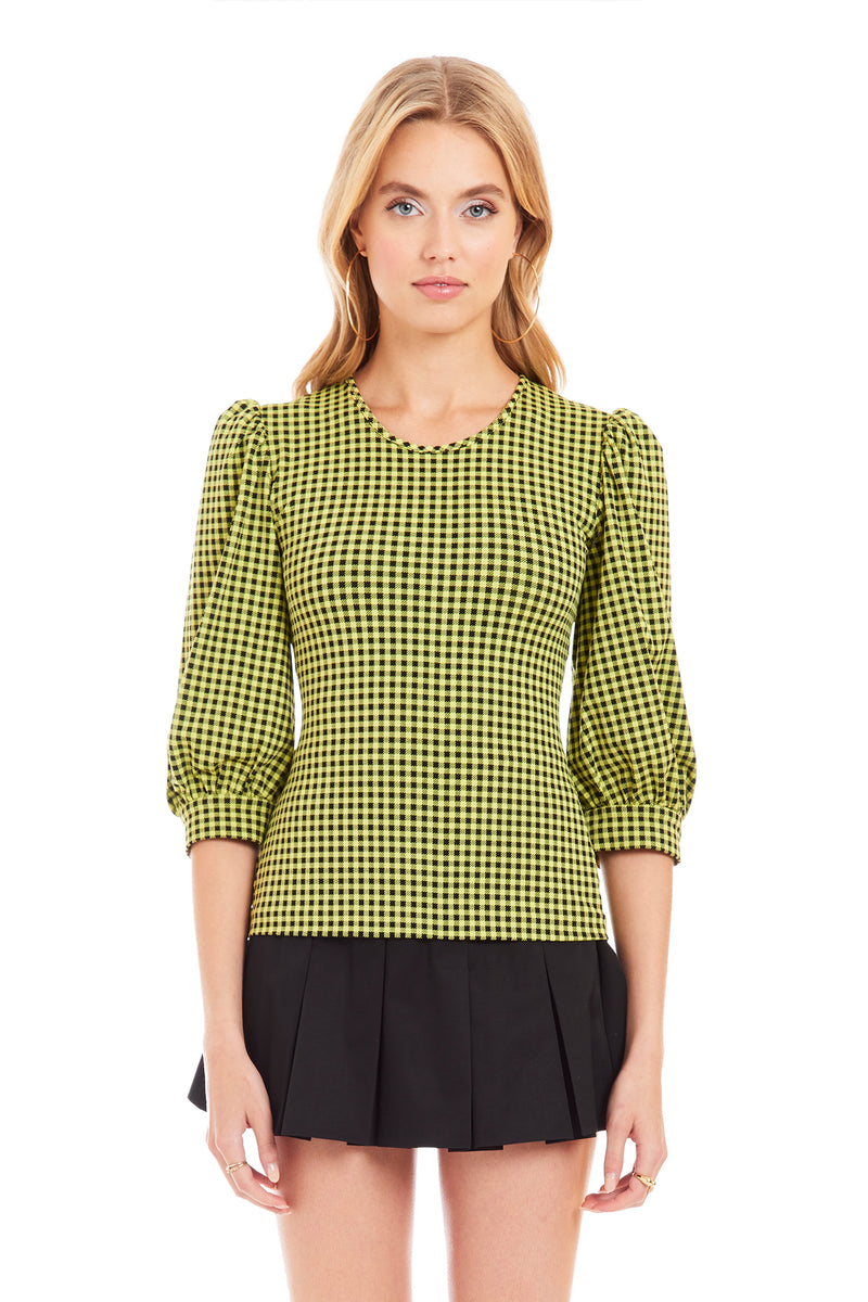 Amanda Uprichard Jilly Top - Yellow | Women's Tops