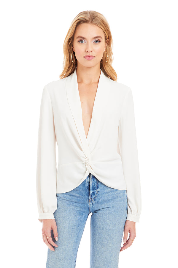 Amanda Uprichard Keely Top - White | Women's Tops