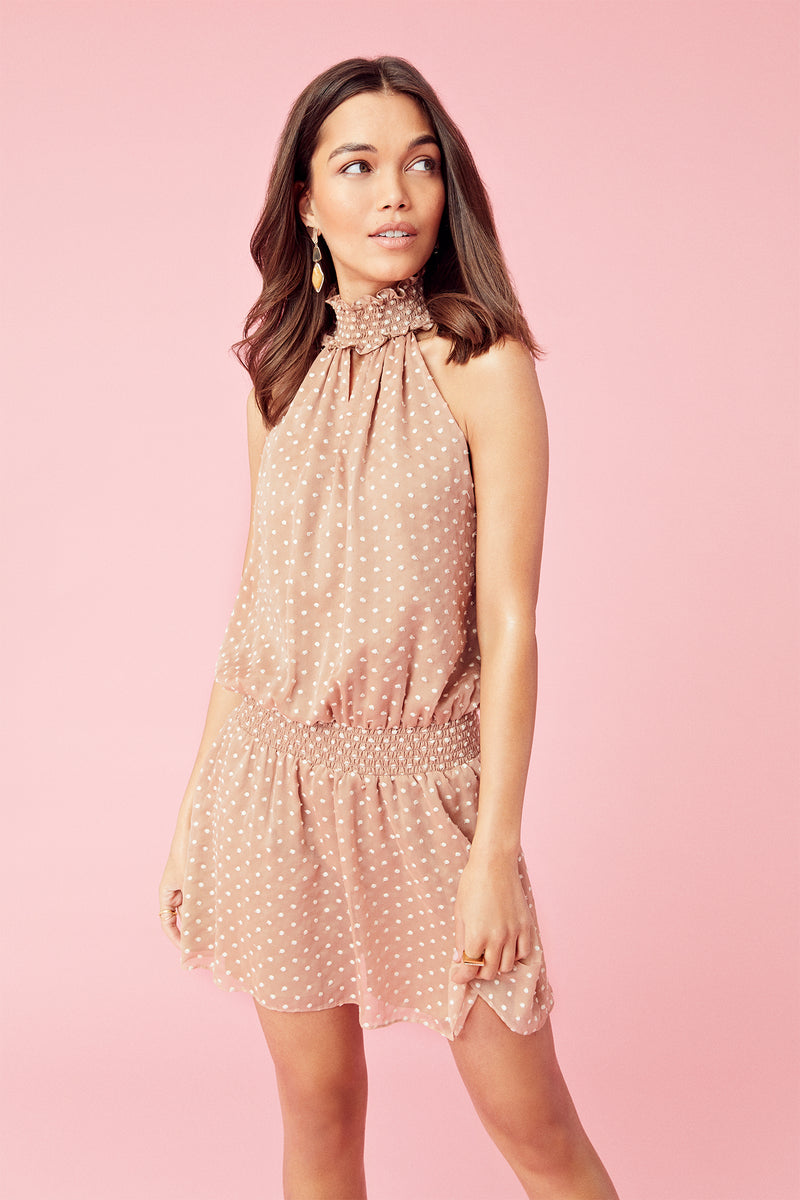 Embroidered Dot Kimmie Dress