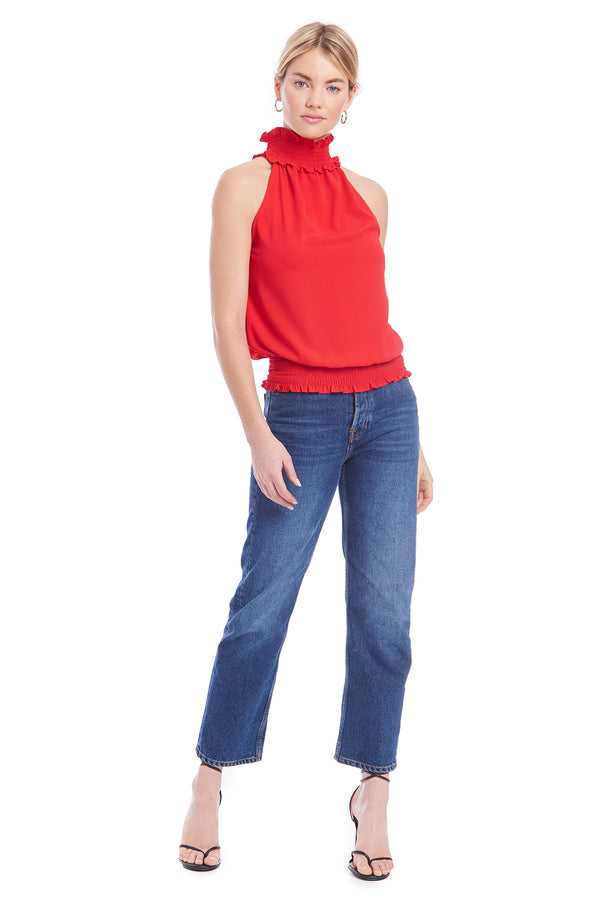 Amanda Uprichard Kimmie Top - Red | Women's Tops
