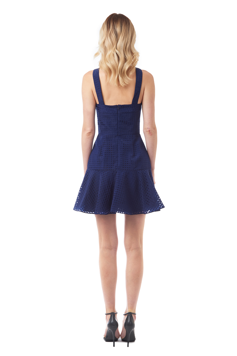 Amanda Uprichard Annalise Dress in Navy - Womens Dresses