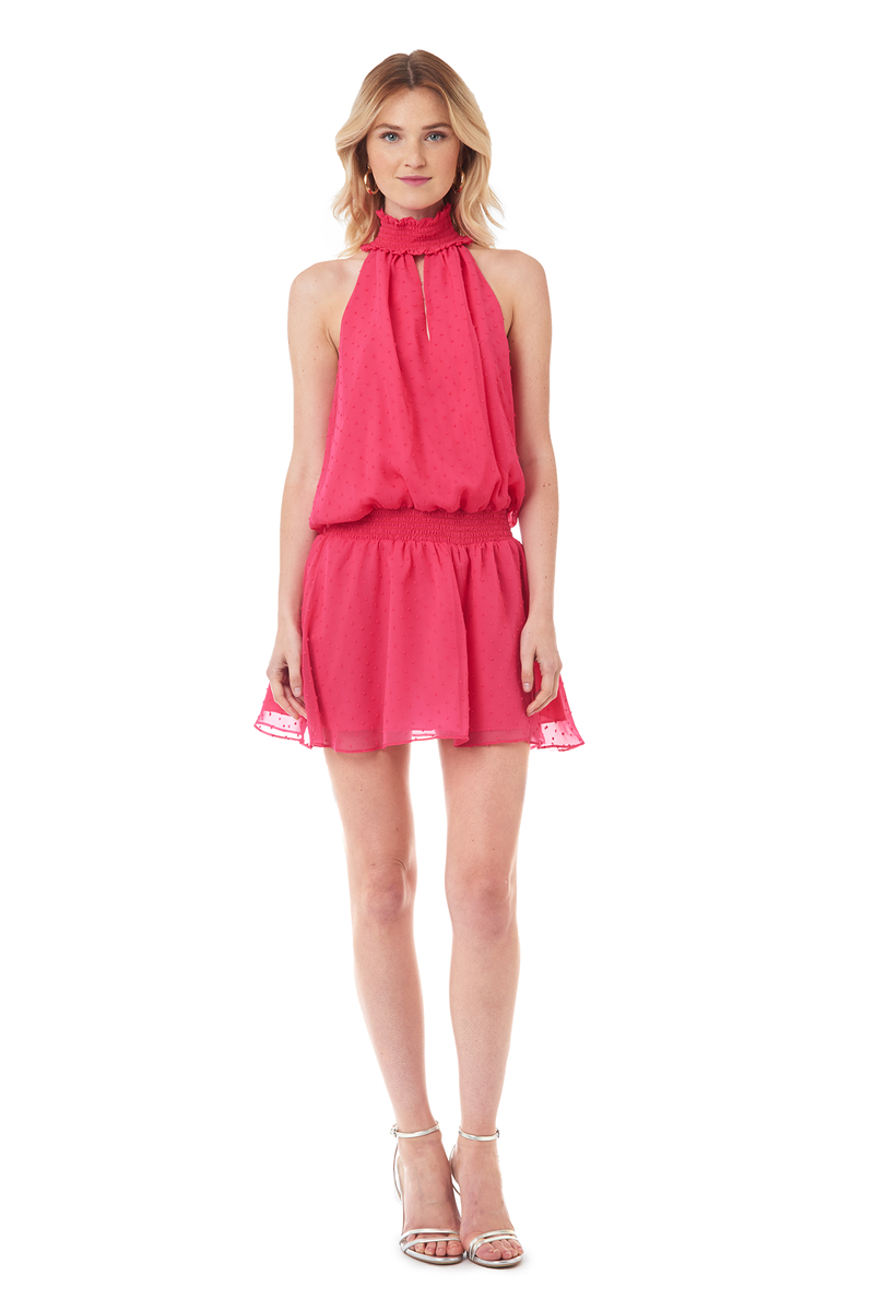 Amanda Uprichard Kimmie Dress in Pink Dot - Womens Dresses