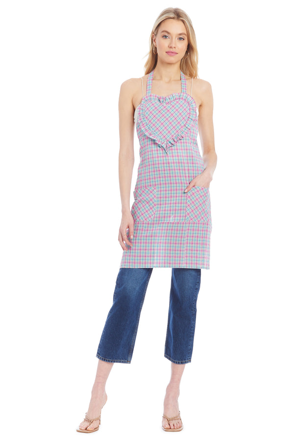 AU Apron - Gingham Multi