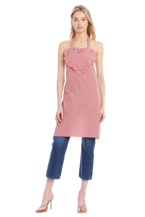 AU Apron - Red Gingham