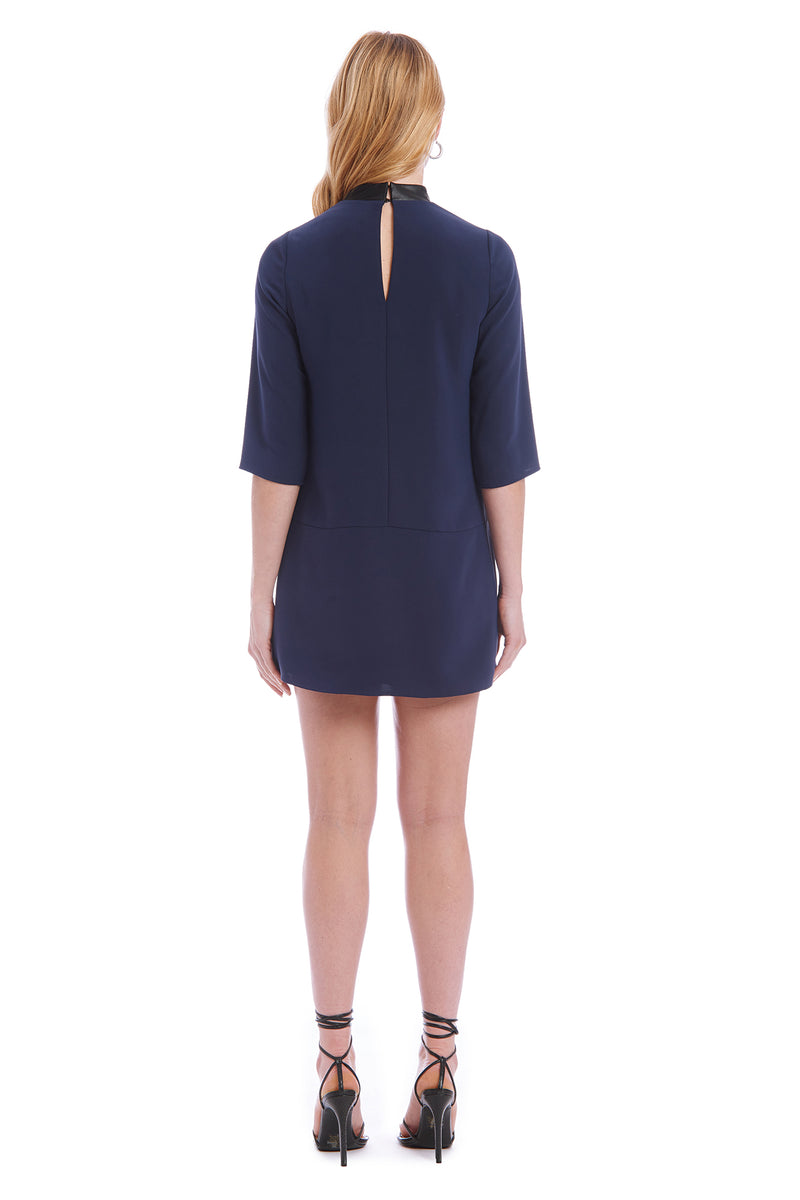 Amanda Uprichard Long Sleeve Mayer Dress - Navy | Women's Dresses