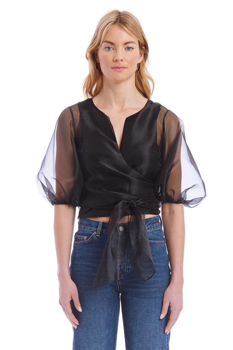 Amanda Uprichard Lafayette Top - Black | Women's Tops