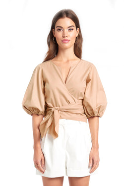 Amanda Uprichard Lafayette Top - Beige | Women's Tops