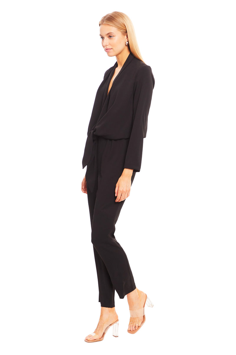 Amanda Uprichard Laurie Jumpsuit - Black | Women's Jumpsuits