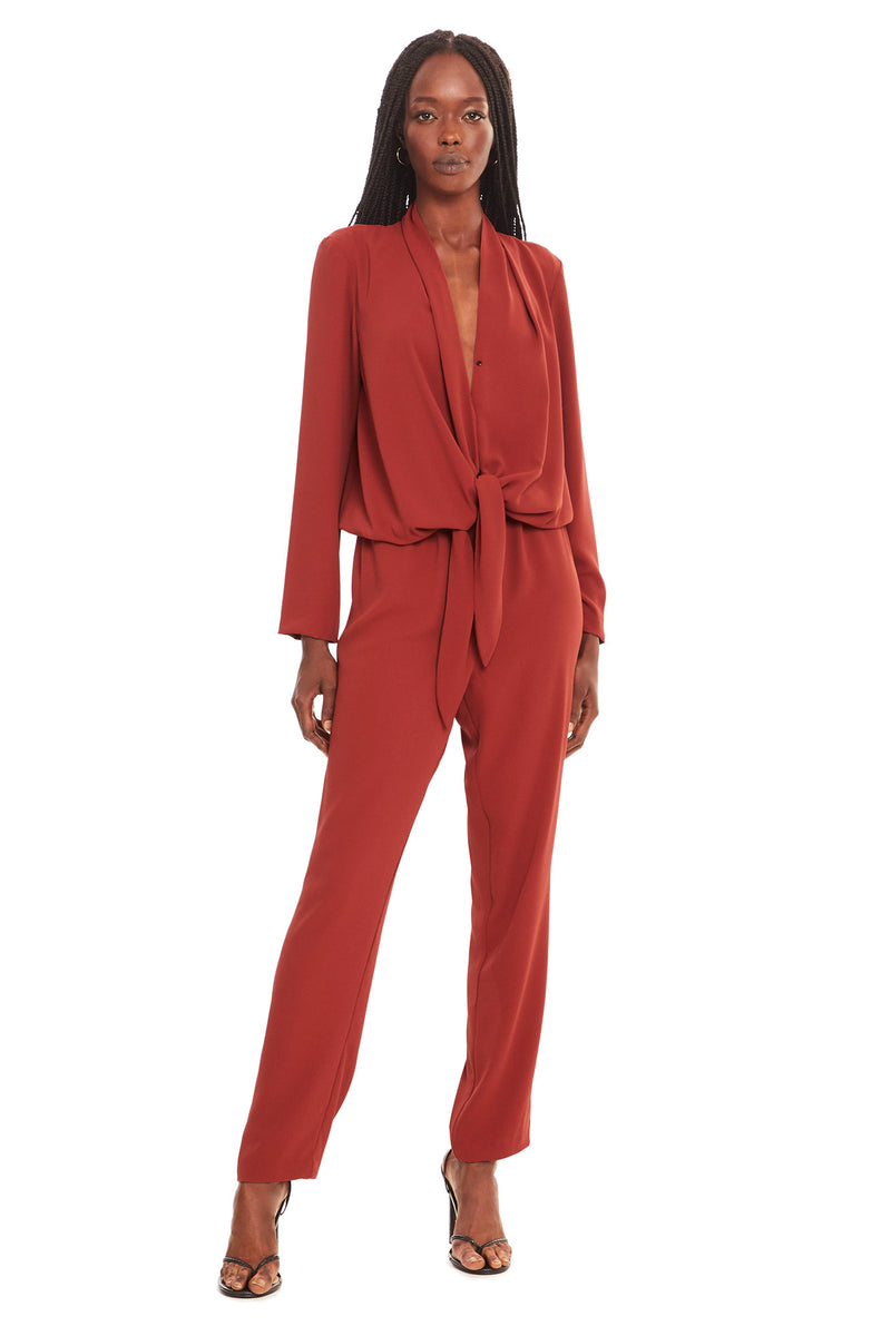 Amanda Uprichard Laurie Jumpsuit - Red | Women's Jumpsuits