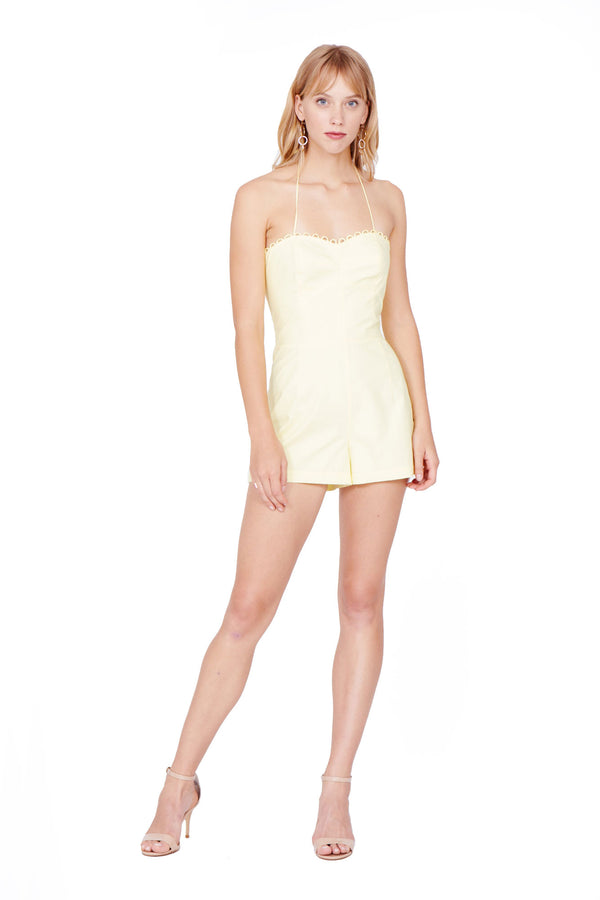 Amanda Uprichard Laurenesse Romper - Womens Rompers