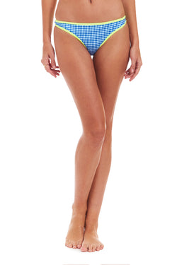 Amanda Uprichard Lido Bikini Bottom - Blue Gingham | Women's Swim