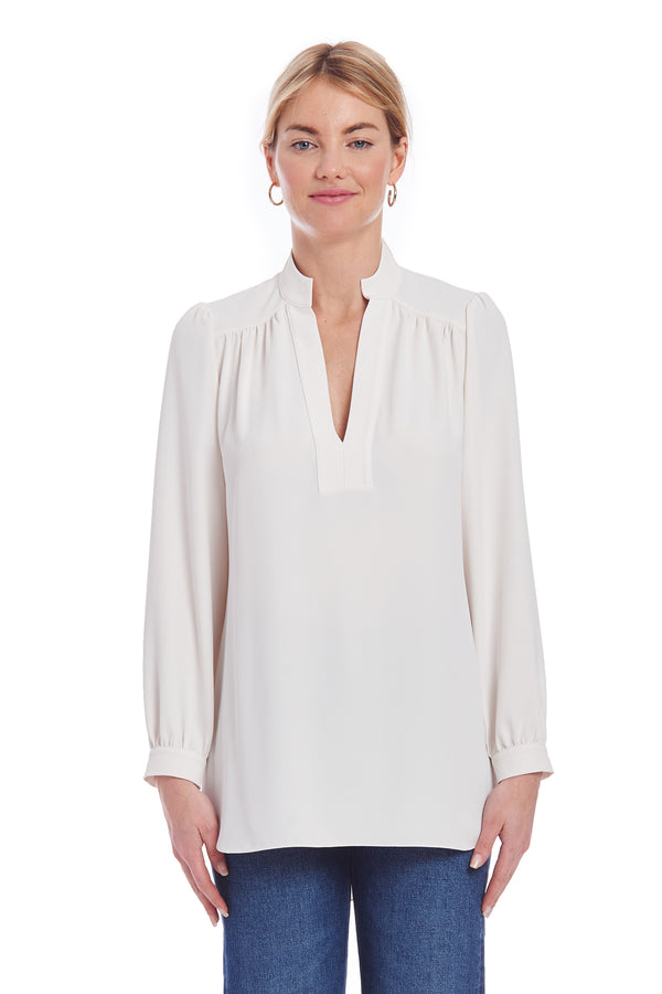Amanda Uprichard Liden Top - Ivory | Women's Tops