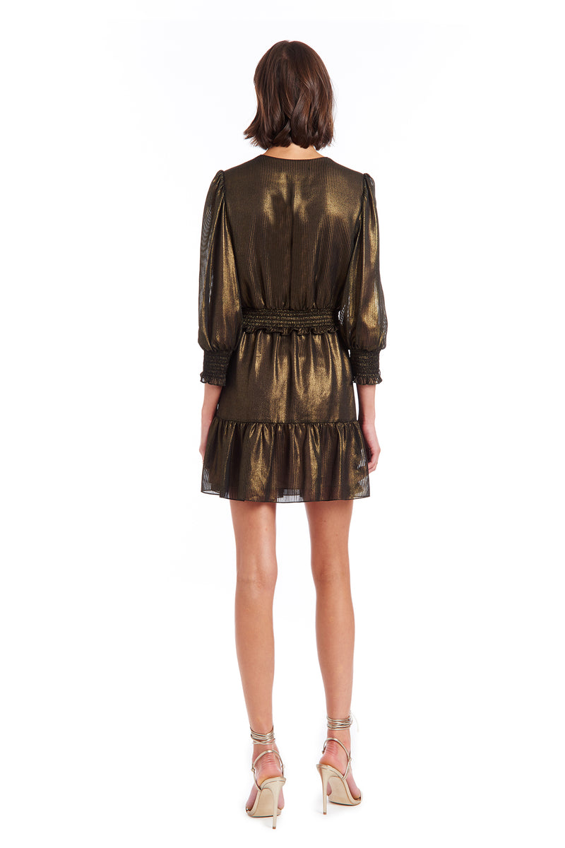 Amanda Uprichard Loralee Dress - Gold | Women's Dresses
