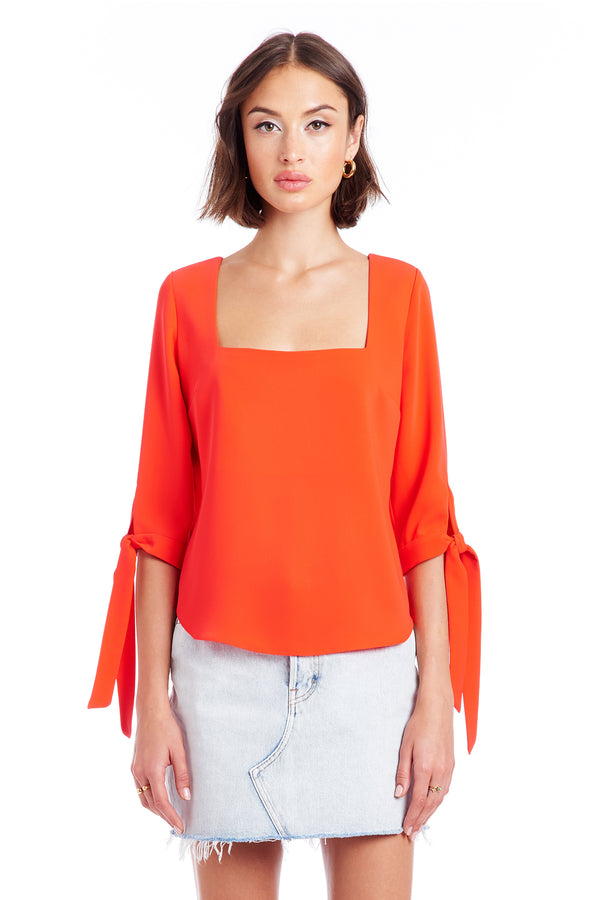 Amanda Uprichard Louise Top - Red | Women's Tops