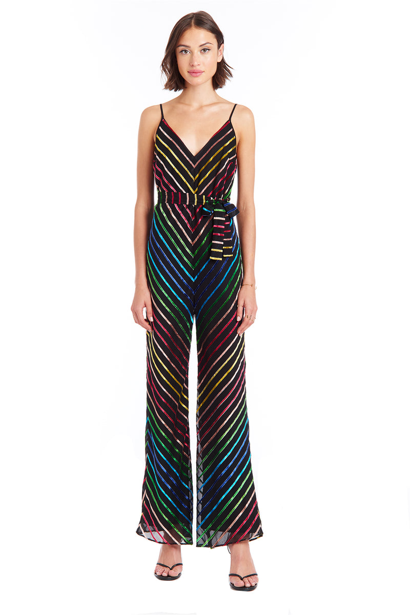Amanda Uprichard Lula Jumpsuit - Rainbow Multi | Women's Jumpsuits & Rompers