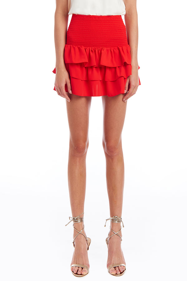 Amanda Uprichard Mariska Skirt - Red | Women's Bottoms
