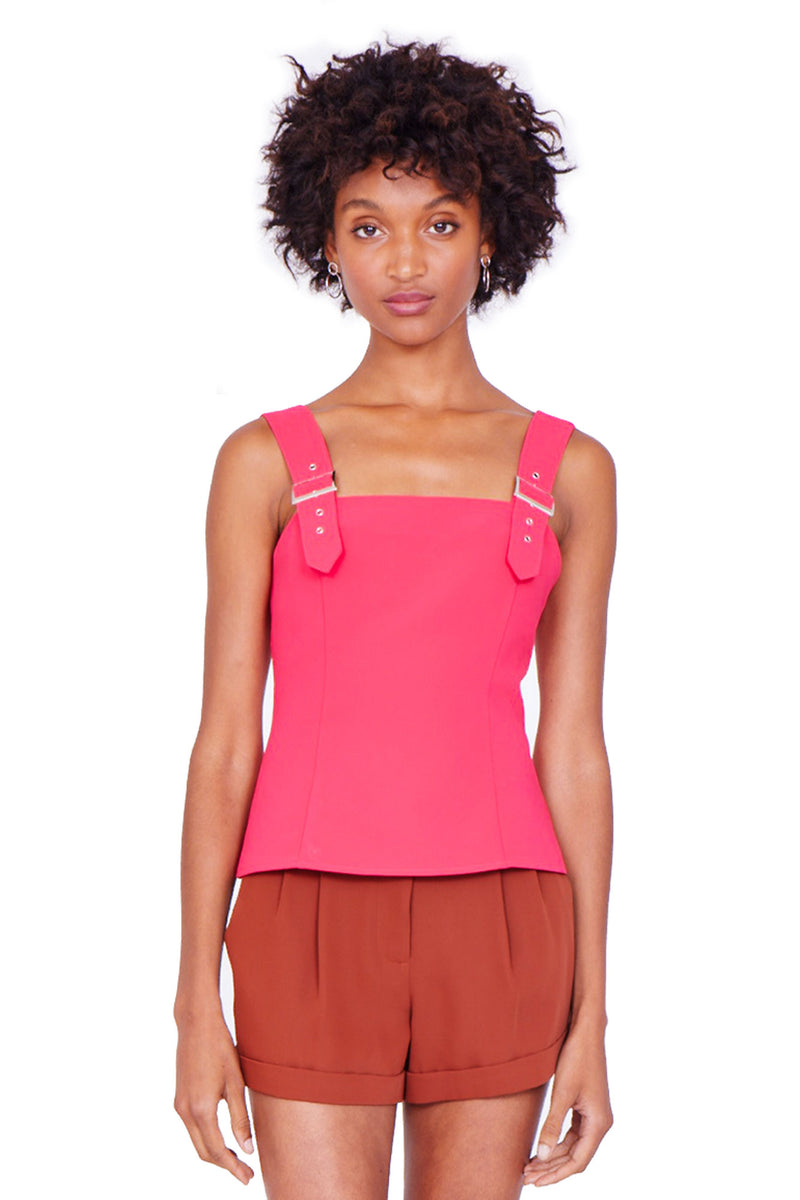 Amanda Uprichard Mandy Buckle Top - Womens Tops