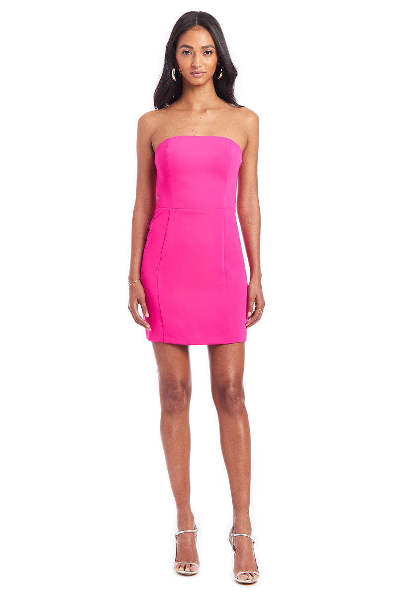 Amanda Uprichard Mandy Dress - Hot Pink | Women's Dresses