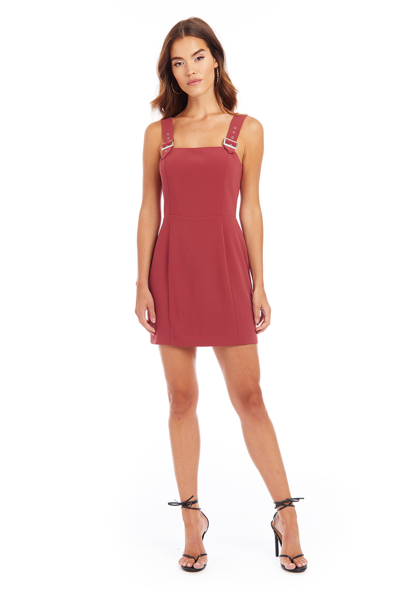 Amanda Uprichard Mandy Buckle Dress - Excalibur | Women's Dresses