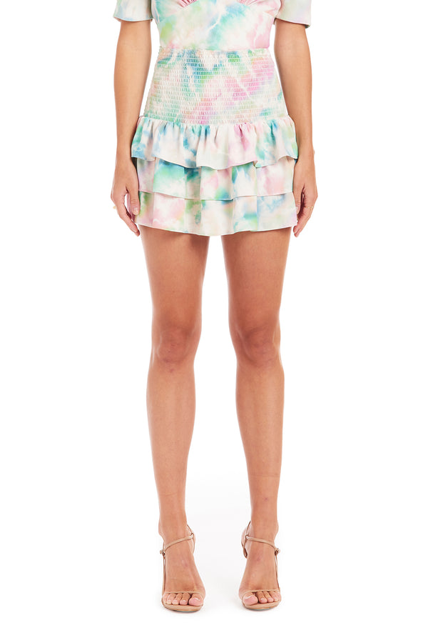Amanda Uprichard Mariska Skirt - Tie Dye | Women's Bottoms
