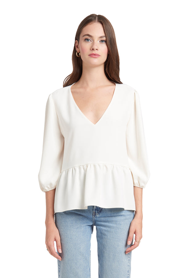 Amanda Uprichard Maureen Top - White | Women's Tops