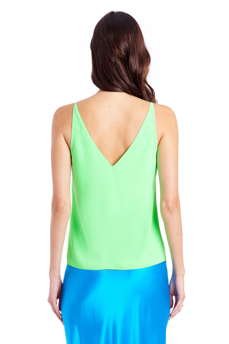 Amanda Uprichard Meera Cami - Green | Women's Tops