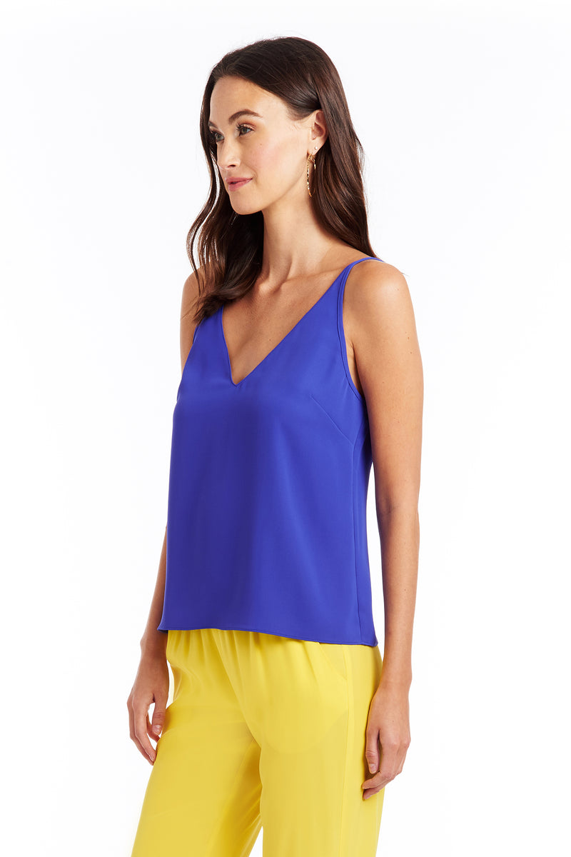 Amanda Uprichard Meera Cami - Blue | Women's Tops