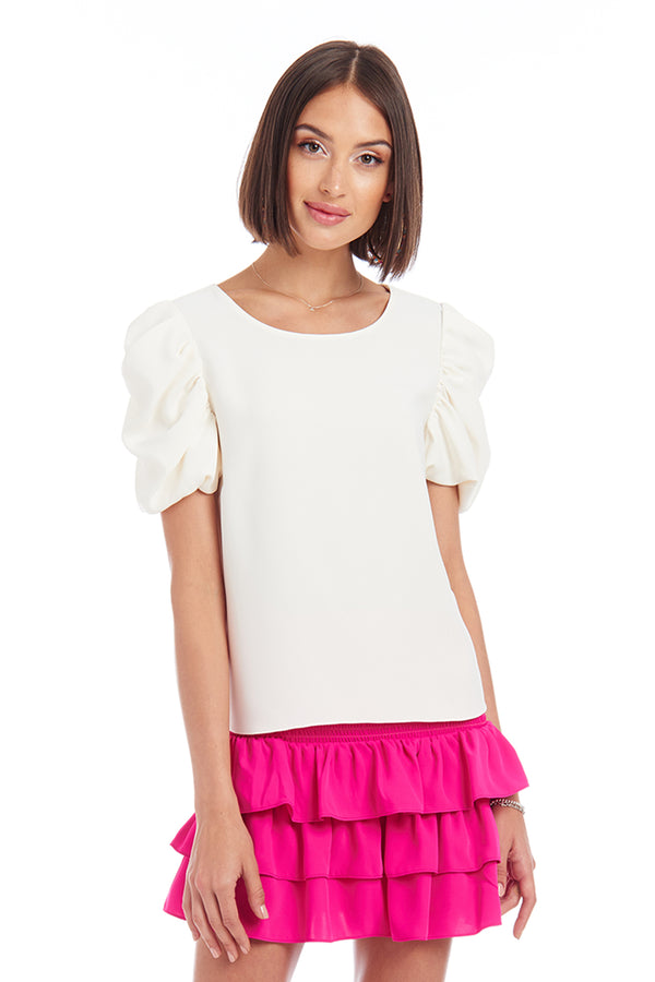 Amanda Uprichard Merris Top - Ivory | Women's Tops